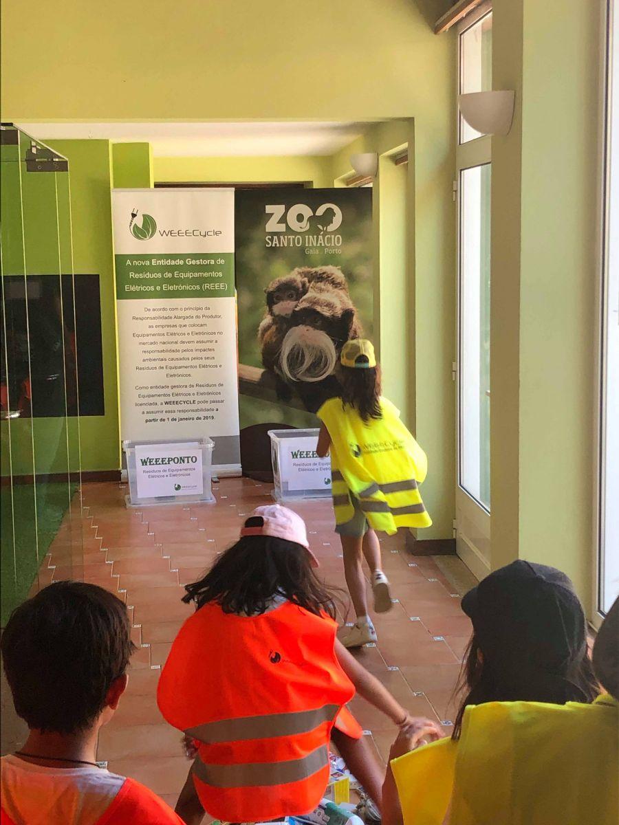Participação nos Campos de Férias do Zoo de Santo Inácio